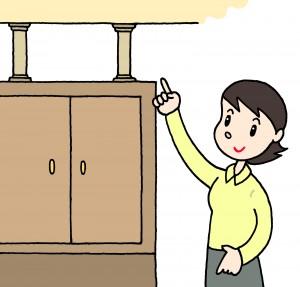 地震対策家具食器棚
